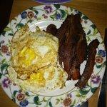 Side of organic eggs & bacon