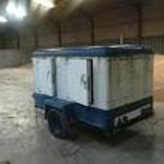 Old 50's ice cream trailer which will become our smokery