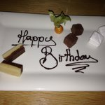 Birthday great from the restaurant :)
