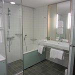 Bathroom via mirror