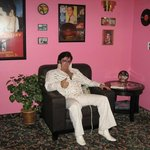 elvis relaxing in TV Room