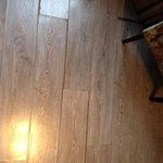 floor is rather rustic. Mind the splinters!