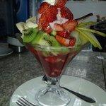 fruit salad with icecream