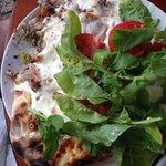 Jean's heart Lebanese bread sandwich!