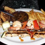 texas toast, fries and 3 different skewers $10.99