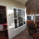 la veranda della camera