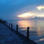 Sunset of dock