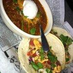 Chili and fish tacos