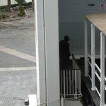 Employee smoking area