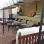 Lounge gedeelte op het dakterras