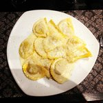 Veal Ravioli with Four Cheese Sauce