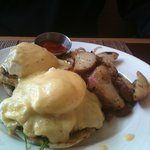 Eggs Benedict with CRAB MEAT for Breakfast