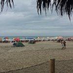 Vista de la playa