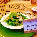 Salada de entrada no almoço Spa do Hotel Clarion