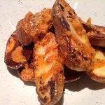 patatas bravas spanish style, tapas dish