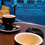 Cappuccino outside