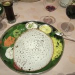 The Appam pancake which was really good with the sauces