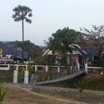 Vista del bungalow des de la playa
