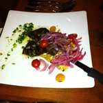 Grilled Skirt Steak with Fried Yucca