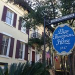 Exterior of the hotel on a quiet residential street in a great location to see historic Savannah