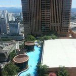 we cn see the swimming pool from our room
