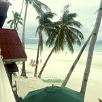White beach view in morning
