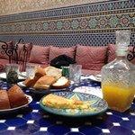 Een gedeelte van ons ontbijt