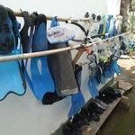 équipement de snorkeling à disposition