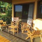 La terrasse de notre bungalows