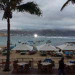 Evening photo of Las Canteras taken from Casa Carmelo