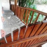 Stairs to upper level bungalow