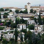 View from the palace to Granada