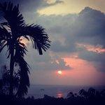 coucher de soleil depuis la villa 3