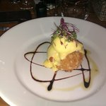Fish Cake & Poached Egg