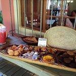 Delicious breakfast on the veranda.