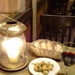 olives and bread to start...