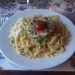 Spaghettis au Foie Gras