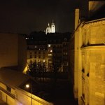 View of Sacre Coeur from room 506 at night