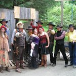 wranglers and staff in western skit