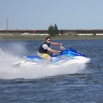 Riding 50 mph on the Back Bay of Ocean City!!