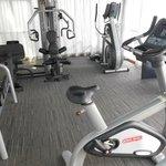 Salle de fitness: elliptique et muscu