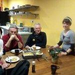 Mangiando tutti insieme con Pavlina :)