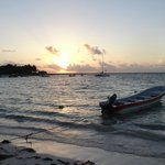 Sunrise at the beach, going to snorkel with sea turtles