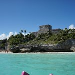 A bit of the ruins from the water... no crowds here!