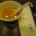 Complimentary miso soup