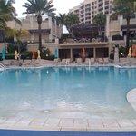 Beach club pool, so relaxing