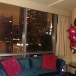 The paramount suite at night!