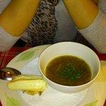 Soupe à l'oignon et croûte de munster