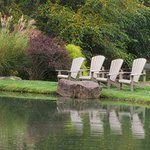 Enjoy fishing or just sitting by the small pond