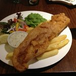 Fish and chips - tasted even nicer than it looks